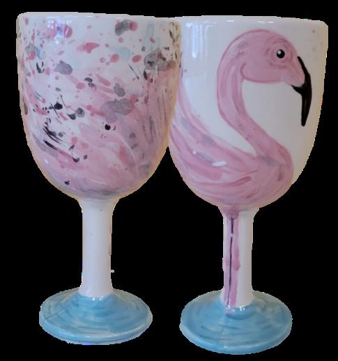 Virtual Paint Night – Flocktails Wine Goblet