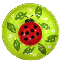 Crock A Doodle Pottery Painting Lady bug Dipper