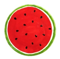 Crock A Doodle Pottery Painting Watermelon Plate