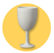 Crock A Doodle Pottery Painting Wine Goblet