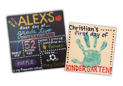 Back to School Hand Prints
